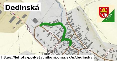 ilustrácia k Dedinská, Lehota pod Vtáčnikom - 351m