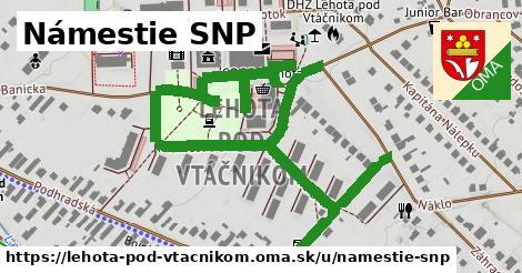 ilustrácia k Námestie SNP, Lehota pod Vtáčnikom - 515m
