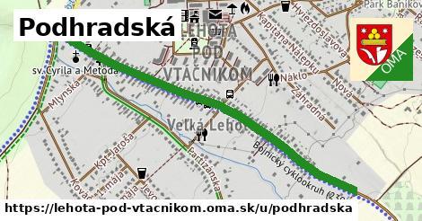 ilustrácia k Podhradská, Lehota pod Vtáčnikom - 1,18km