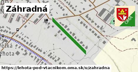 ilustračný obrázok k Záhradná, Lehota pod Vtáčnikom