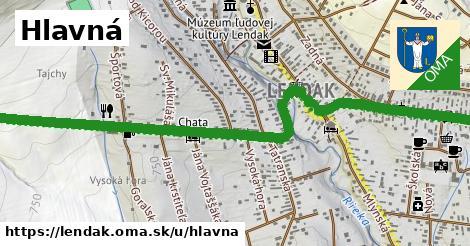 ilustrácia k Hlavná, Lendak - 1,54km