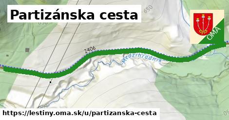 ilustrácia k Partizánska cesta, Leštiny - 0,75km