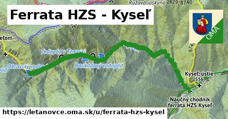 ilustrácia k Ferrata HZS – Kyseľ, Letanovce - 1,37km
