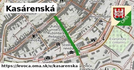 ilustrácia k Kasárenská, Levoča - 254m