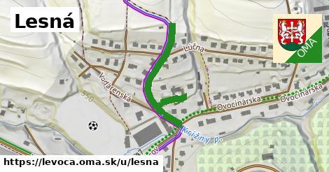 ilustrácia k Lesná, Levoča - 223m