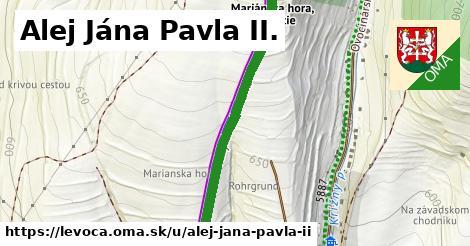 Alej Jána Pavla II., Levoča