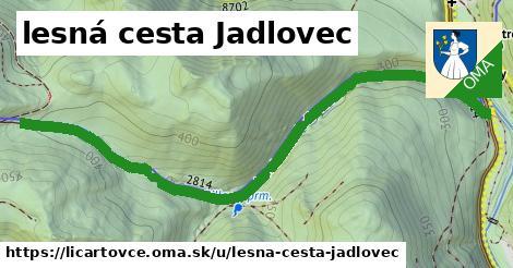 ilustrácia k lesná cesta Jadlovec, Ličartovce - 1,59km