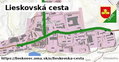 ilustrácia k Lieskovská cesta, Lieskovec - 1,71km