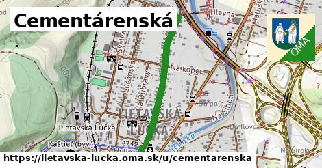 ilustrácia k Cementárenská, Lietavská Lúčka - 664m