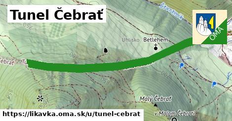 ilustrácia k Tunel Čebrať, Likavka - 2,3km
