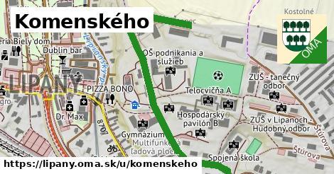 ilustračný obrázok k Komenského, Lipany