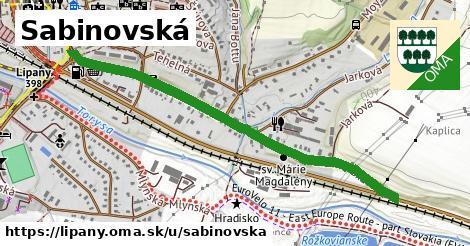 ilustrácia k Sabinovská, Lipany - 1,10km