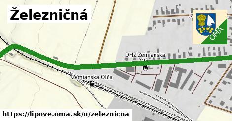 ilustrácia k Železničná, Lipové - 0,79km