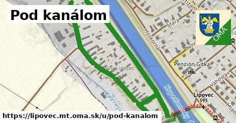 ilustrácia k Pod kanálom, Lipovec, okres MT - 1,00km