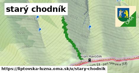 ilustrácia k starý chodník, Liptovská Lúžna - 2,0km