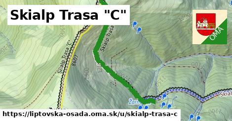 """ilustrácia k Skialp Trasa """"C"""", Liptovská Osada - 695m"""