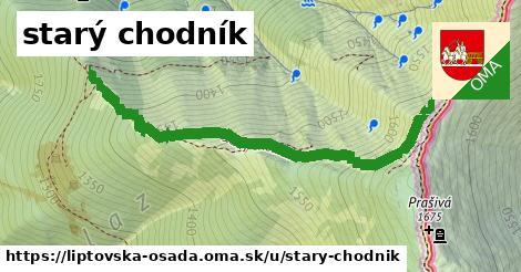 ilustrácia k starý chodník, Liptovská Osada - 1,31km