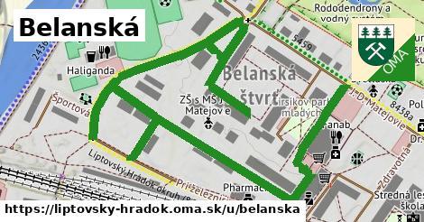 ilustrácia k Belanská, Liptovský Hrádok - 2,0km