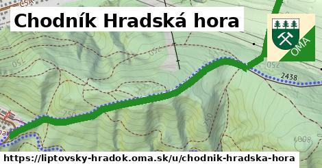 ilustrácia k Chodník Hradská hora, Liptovský Hrádok - 1,61km