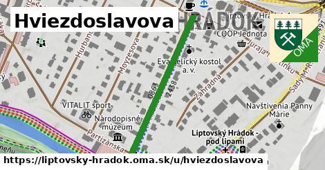 ilustrácia k Hviezdoslavova, Liptovský Hrádok - 348m