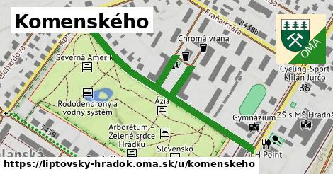 ilustrácia k Komenského, Liptovský Hrádok - 639m