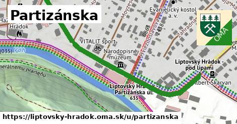ilustrácia k Partizánska, Liptovský Hrádok - 0,83km