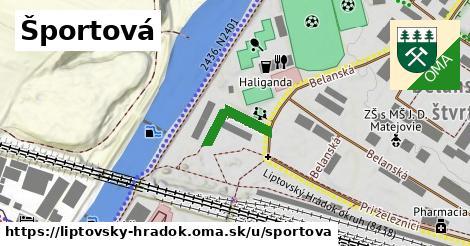 ilustrácia k Športová, Liptovský Hrádok - 370m