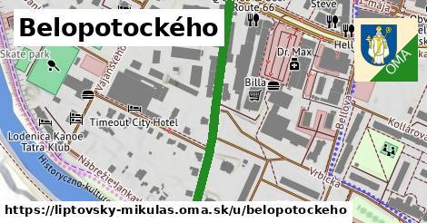 ilustračný obrázok k Belopotockého, Liptovský Mikuláš
