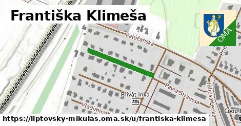 ilustračný obrázok k Františka Klimeša, Liptovský Mikuláš
