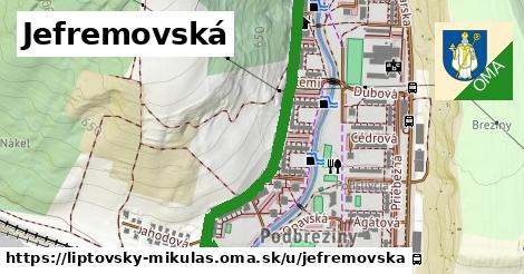 ilustrácia k Jefremovská, Liptovský Mikuláš - 1,24km