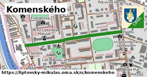 ilustrácia k Komenského, Liptovský Mikuláš - 492m