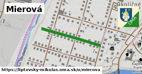 ilustrácia k Mierová, Liptovský Mikuláš - 320m