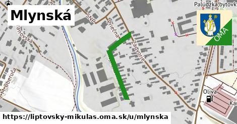 ilustrácia k Mlynská, Liptovský Mikuláš - 246m
