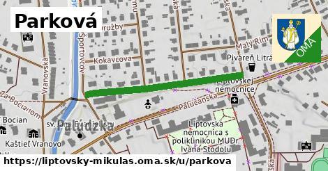 ilustrácia k Parková, Liptovský Mikuláš - 378m