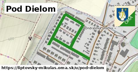 ilustrácia k Pod Dielom, Liptovský Mikuláš - 657m