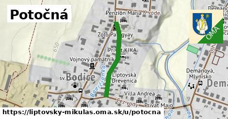 ilustrácia k Potočná, Liptovský Mikuláš - 256m