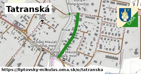 ilustrácia k Tatranská, Liptovský Mikuláš - 262m