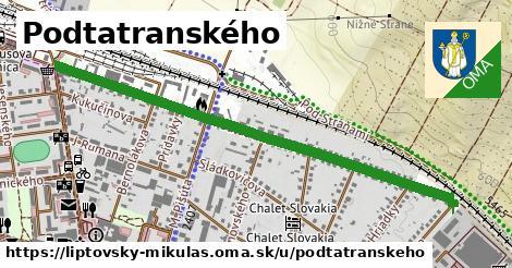 ilustrácia k Podtatranského, Liptovský Mikuláš - 1,23km