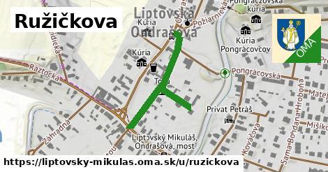 ilustrácia k Ružičkova, Liptovský Mikuláš - 344m
