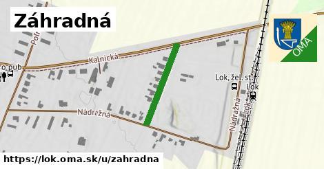ilustrácia k Záhradná, Lok - 205m
