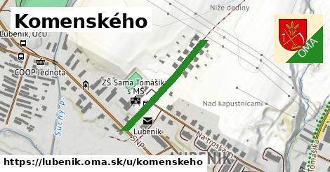 Komenského, Lubeník