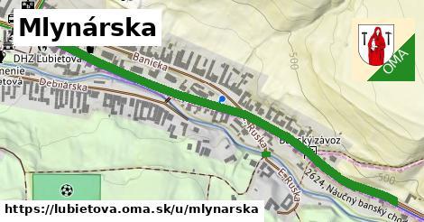 ilustrácia k Mlynárska, Ľubietová - 591m