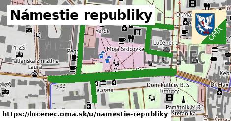 ilustrácia k Námestie republiky, Lučenec - 1,57km