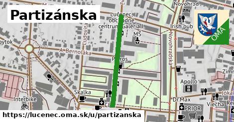 ilustrácia k Partizánska, Lučenec - 296m