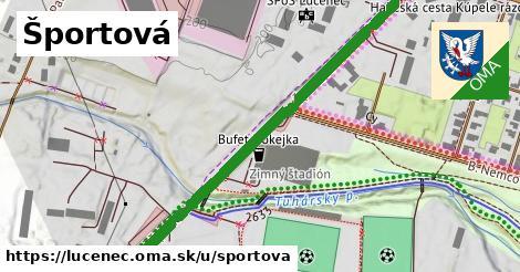 ilustrácia k Športová, Lučenec - 684m