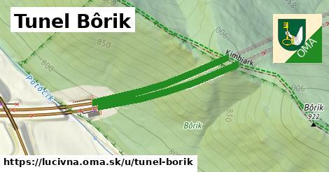 ilustrácia k Tunel Bôrik, Lučivná - 645m
