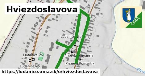 ilustrácia k Hviezdoslavova, Ludanice - 1,00km