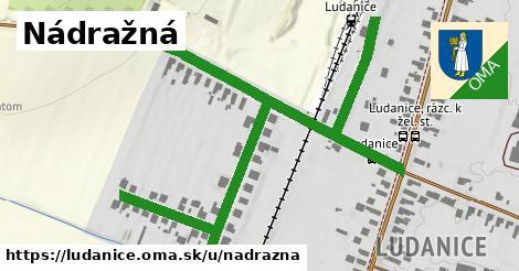 ilustrácia k Nádražná, Ludanice - 1,01km