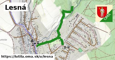 ilustrácia k Lesná, Lutila - 284m