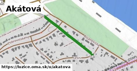 ilustrácia k Akátová, Lužice - 335m